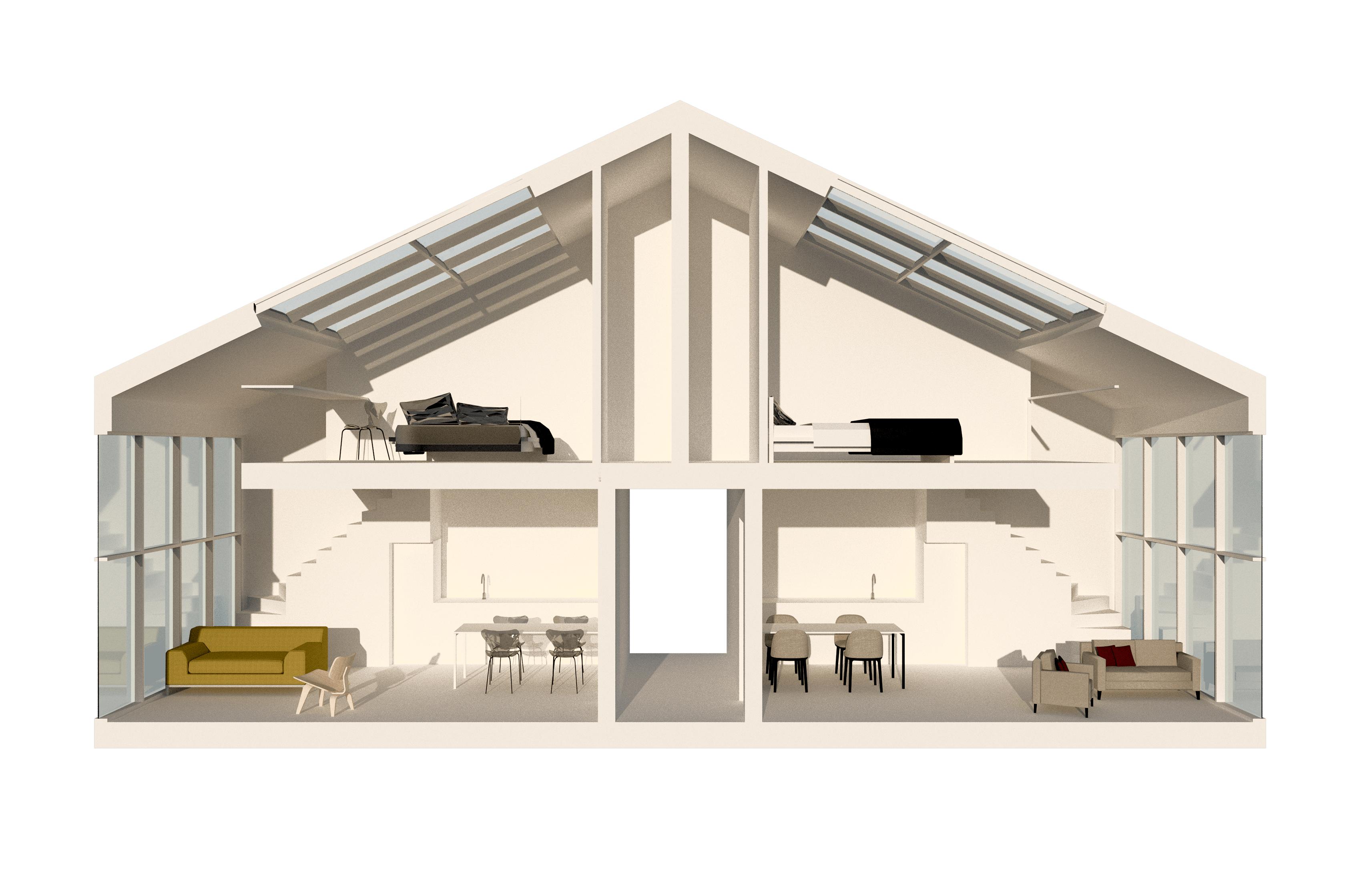 studioBEUVING -starter lofts hilversum -3D model principe
