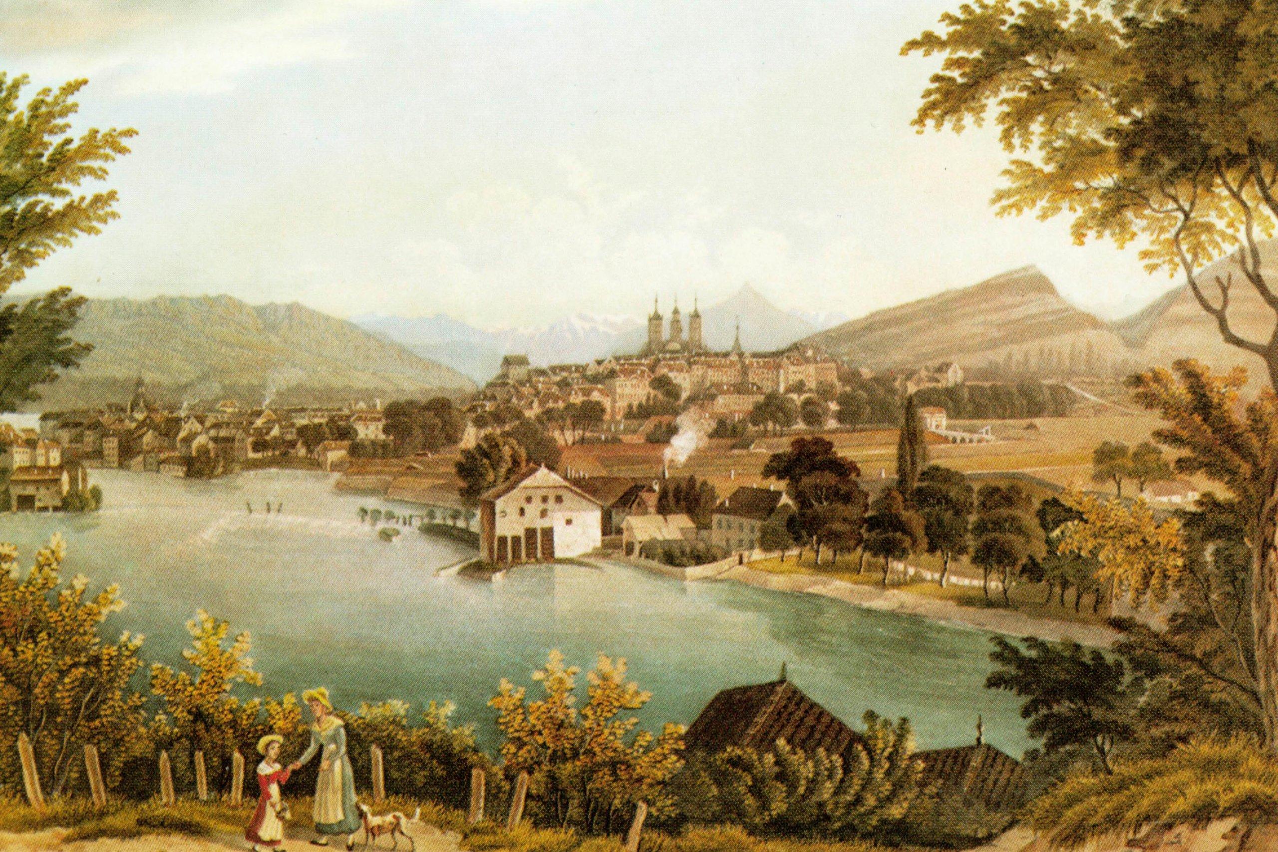 Historische foto van Geneve, Zwitserland