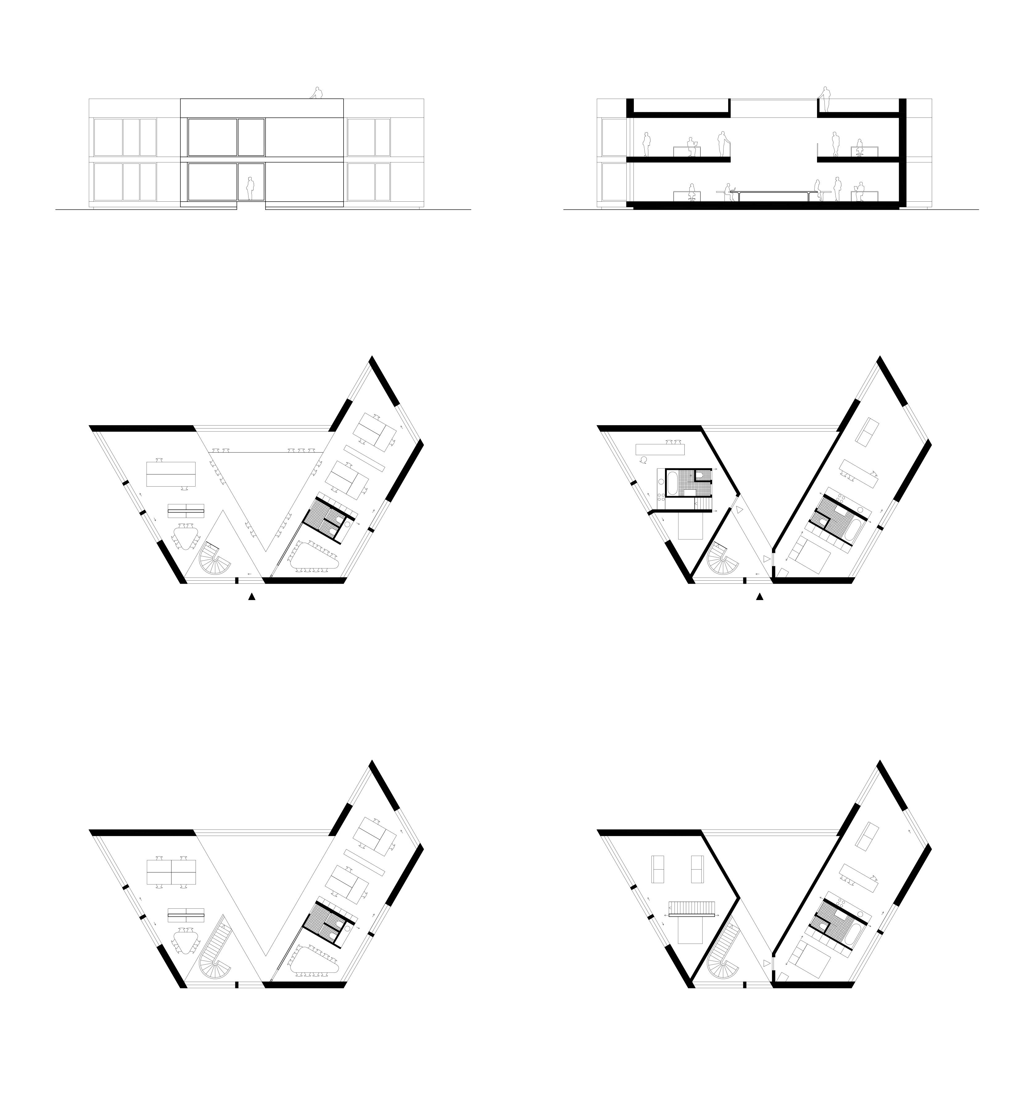 Tekeningen van kantoorgebouw in Ijsselmuiden, provincie Overijssel