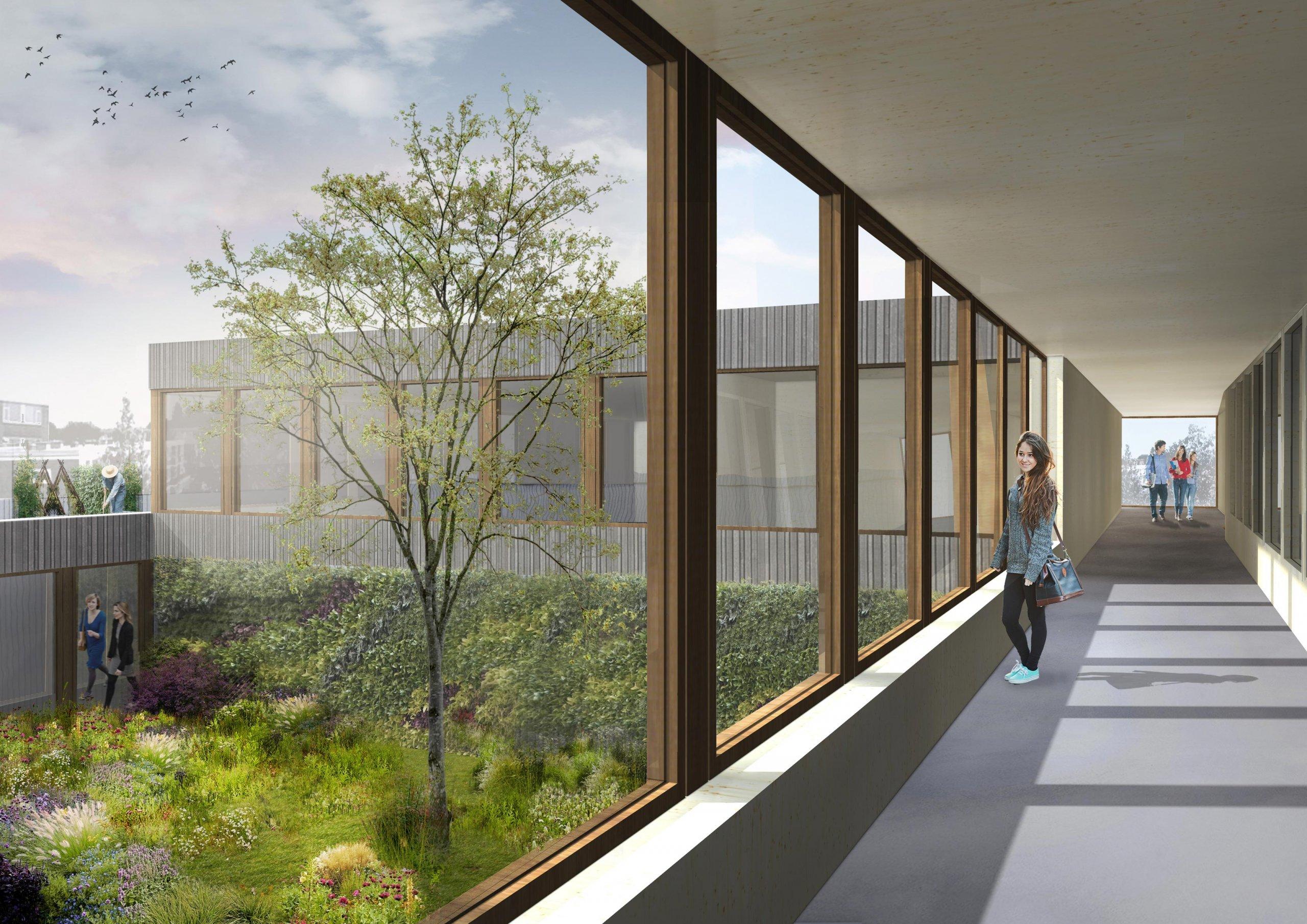 Interieur van Rudolf Steiner college in Haarlem, Provincie Noord-Holland