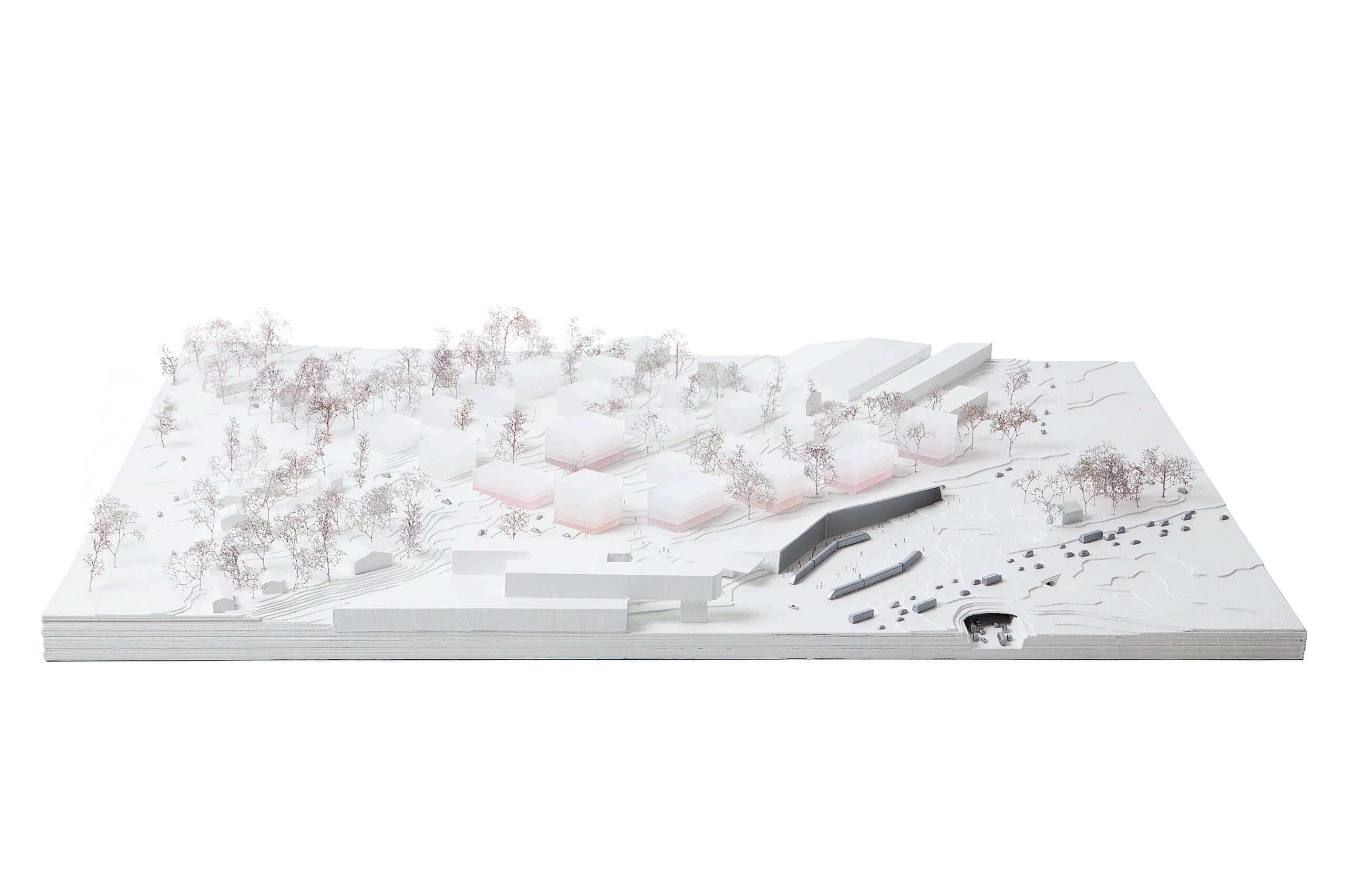 stedenbouwkundige maquette van Courge Bachet